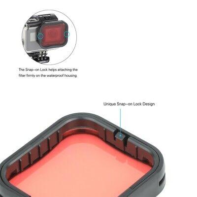 Diving Filter Underwater Red Magenta Snorkel Color Filters for GoPro HERO5 6 7 4