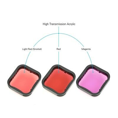 Diving Filter Underwater Red Magenta Snorkel Color Filters for GoPro HERO5 6 7 5
