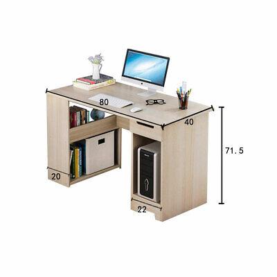 Bureau Informatique Meuble d/'ordinateur tiroir+étagère+biblio 104x50x82cm noir