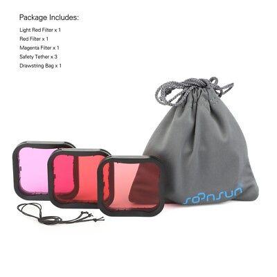 Diving Filter Underwater Red Magenta Snorkel Color Filters for GoPro HERO5 6 7 6