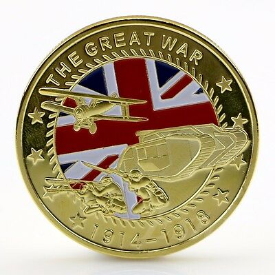 Gold Plated The Great War Commemorative Coin Collection Colored Collective 5