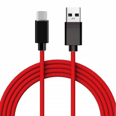 For Samsung S8 S9+ Note9 A5 Type C Data Sync Charger Charging Cable Braided USB 2