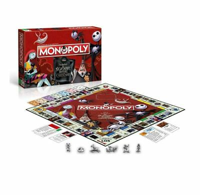 Disney Tim Burtons ' The Nightmare Before Christmas' Monopoly Board Game 4