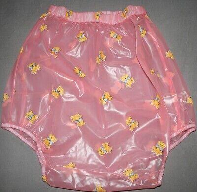 PVC Adult Baby Inkontinenz Windelhose Gummihose rosa kid 2