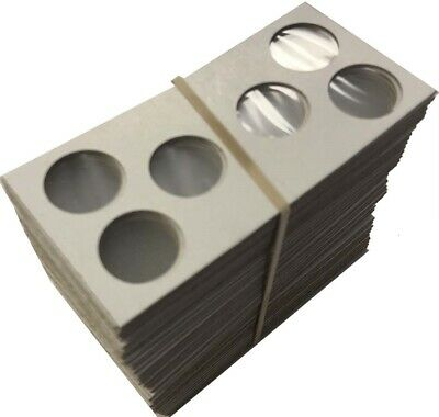 3 hole 2x2 Coin Mylar Cardboard Flips For Penny Cents / PDS Set Cowen's US 2