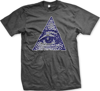 STREETWISE THINK RICHES T-shirt Eye Of Providence God Tee Men LARGE Black NWT
