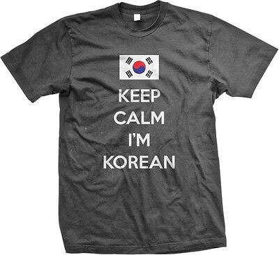 Keep Calm Im Korean Flag Hanguk Hanja Republic of Korea Mens V-neck T-shirt