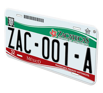 Zacatecas Mexico Any Name Number Novelty Auto Car License Plate C01 6