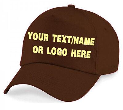 Personalised baseball caps Customised Adults unisex Printed Caps Hats Text/Logo 2