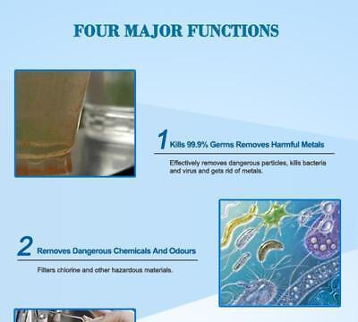 8 Stage Water Filter Ceramic Carbon Mineral Bench top Dispenser Purifier Pot 20L 4