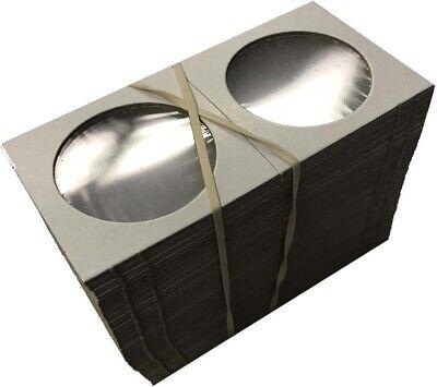 Large Dollar Size 2x2 Coin Cardboard Mylar Flips Holder Bundle of 100 Cowen's US 5
