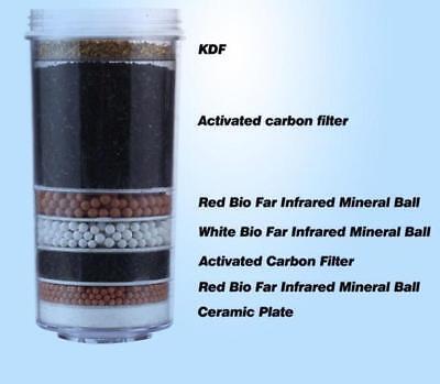 8 Stage Water Filter Ceramic Carbon Mineral Bench top Dispenser Purifier Pot 20L 7