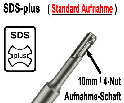 20×SDS Plus Bohrer Set Steinbohrer Betonbohrer Hammerbohrer 8-20 Mm × 110-450 Mm