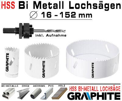 HSS Bi Metall Lochsäge 32mm Bohrkrone Kernbohrkrone Gipskarton Dosenbohrer PVC