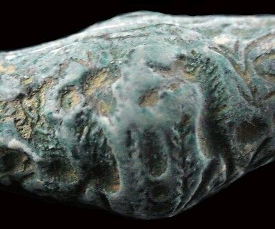 Bactrian copper barrel-shaped bead seal, Circa 2nd Millennium B.C.  x9202 4