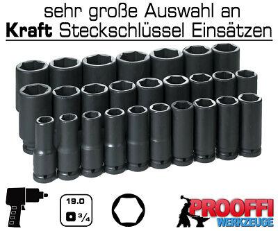 """Lange 38mm KRAFT Schlagschrauber Nuss Stecknuss Steckshlüssel LANG 3//4/"""" Antrieb"""