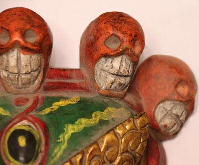 China Hand Art Carved Conventional Painted Wood Ghost Ghosts And Hods Mask 10