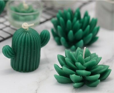 Succulent Cacti Candle Mold Moulds Soap Molds DIY Craft Plaster Silicone Molds 11