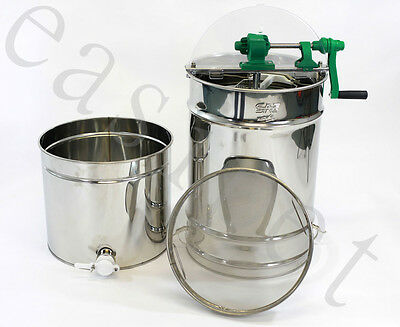 Honey Extractor Manual 4frame Stainless Steel Beekeeping with Filter Easipet 350
