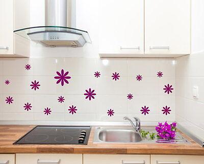 10 Blumen Aufkleber, Fensteraufkleber  Wandtattoo,Möbelsticker,Aufkleber Fliesen