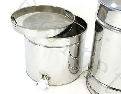 Honey Extractor Manual 4frame Stainless Steel Beekeeping with Filter Easibee 350