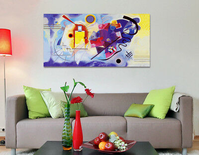Quadro Moderno Astratto Kandinsky grb Arte Arredamento Stampa Tela Arredo Casa 2