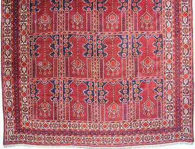 11.3x8.5 feet Antique islamic Beshir Turkmen Mosque prayer rug Saf Gebetsteppich 3 • CAD $9,059.12
