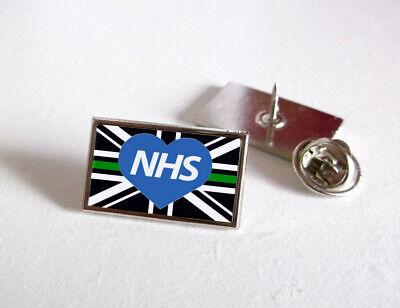 Nhs Uk Nurse Doctor Ambulance Medic Porter Paramedic Green Line Lapel Pin Badge 6