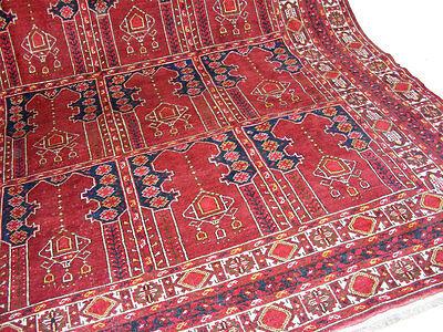 11.3x8.5 feet Antique islamic Beshir Turkmen Mosque prayer rug Saf Gebetsteppich 4 • CAD $9,059.12