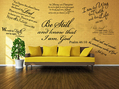 Bible Verse Wall Decals Christian Quote Vinyl Wall Art Stickers Scripture Decor 3