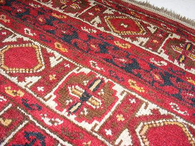 11.3x8.5 feet Antique islamic Beshir Turkmen Mosque prayer rug Saf Gebetsteppich 7 • CAD $9,059.12