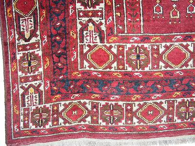11.3x8.5 feet Antique islamic Beshir Turkmen Mosque prayer rug Saf Gebetsteppich 9 • CAD $9,059.12