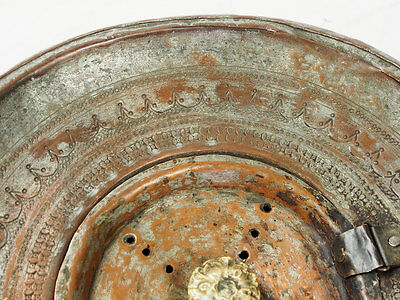 Antique islamic Engraved copper Ewer Pitcher Basin set from Afghanistan No:16/G 6