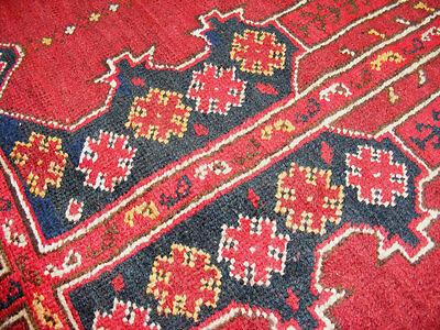 11.3x8.5 feet Antique islamic Beshir Turkmen Mosque prayer rug Saf Gebetsteppich 5 • CAD $9,059.12