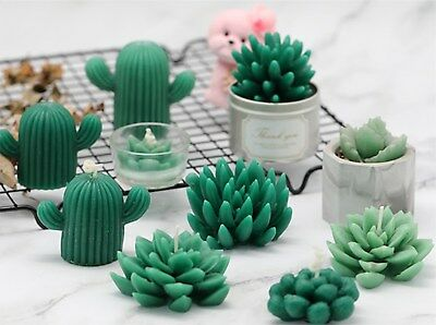 Succulent Cacti Candle Mold Moulds Soap Molds DIY Craft Plaster Silicone Molds 3