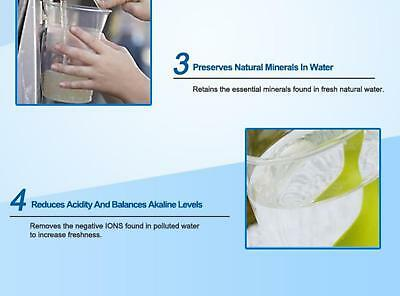 8 Stage Water Filter Ceramic Carbon Mineral Bench top Dispenser Purifier Pot 20L 5