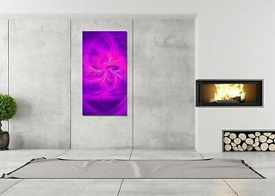 HD GlasBild, Wandbilder XL 50 x 100 cm, EG4100502091 FIRE FLY MODERN LILA ABSTRA
