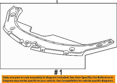 Cadillac GM OEM Radiator Core Support-Sight Shield Splash Cover Panel 23205335