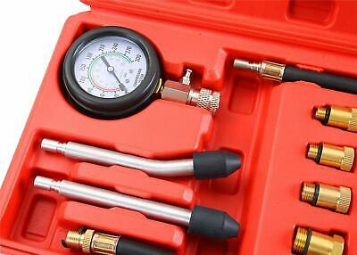 Compresimetro Gasolina 8 Pzas Medidor De Compresion Con Adaptadores + Linterna 3