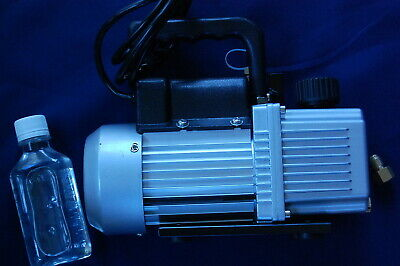 2-Stage High Performance Rotary Vane Deep Vacuum Pump 2CFM Check Valve HVAC Tool 3