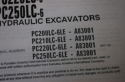komatsu pc250 6 pc250lc 6 operation and maintenance manual
