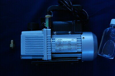 2-Stage High Performance Rotary Vane Deep Vacuum Pump 2CFM Check Valve HVAC Tool 2