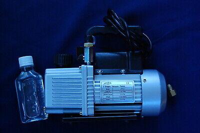 2-Stage High Performance Rotary Vane Deep Vacuum Pump 2CFM Check Valve HVAC Tool 4