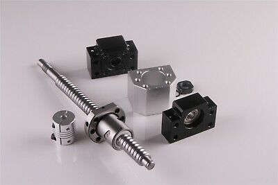 "SFU1605 Rolled BallScrew Kit Length 6""-79"" & Ballnut Housing & Coupler & BK/BF12 4"