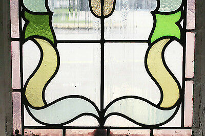 Antique Stained Glass Window Eight colors of Glass Fantastic Floral       (2592) 3