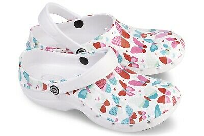 Toffeln Ezi Klog Pro Air 0815 - Butterfly Pattern - Womens Washable Shoes 4