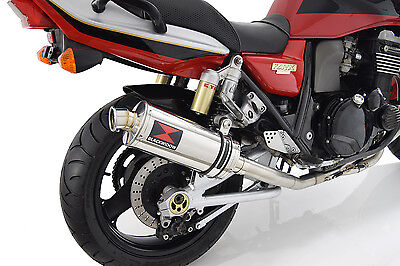 KAWASAKI ZRX 1100 Full Exhaust System 300mm Oval Stainless Silencer 300SS