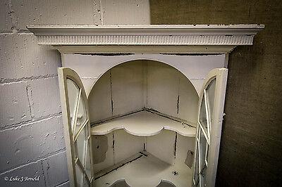18th Century Painted Glazed Corner Cupboard 9