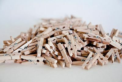 100x25mm MINI WOOD WOODEN PEGS NATURAL CRAFT WEDDING CLOTHES PIN LINE PHOTO BABY