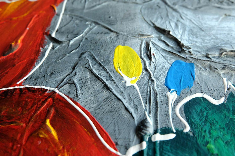 Acryl Gemälde 'COULEUR IM GRAPHIT' | HANDGEMALT | Leinwand Bilder 140x70cm 5